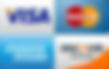 Visa, MasterCard, American Express & Discover cards acceptd