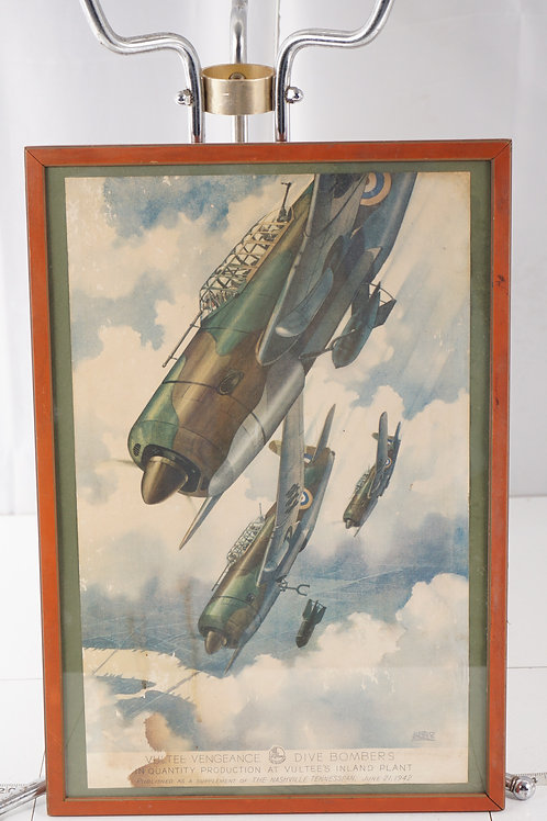 Framed Picture Of 1942 Vultee Dive Vengeance Bombers