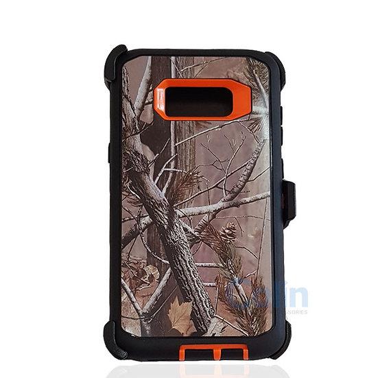 Samsung galaxy S8 Plus design case with clip heavy duty cover - ORANGE TREE