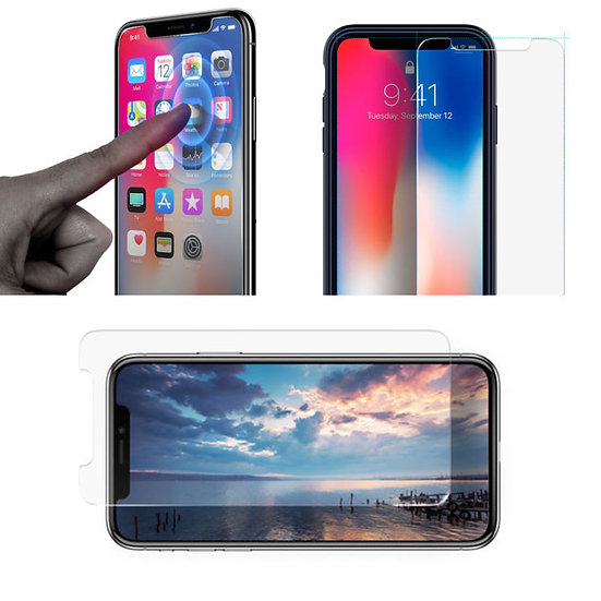 iPhone X R premium tempered glass screen protector film