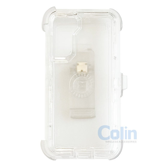 Samsung galaxy S21 Plus hybrid clear case with clip heavy duty protective cover