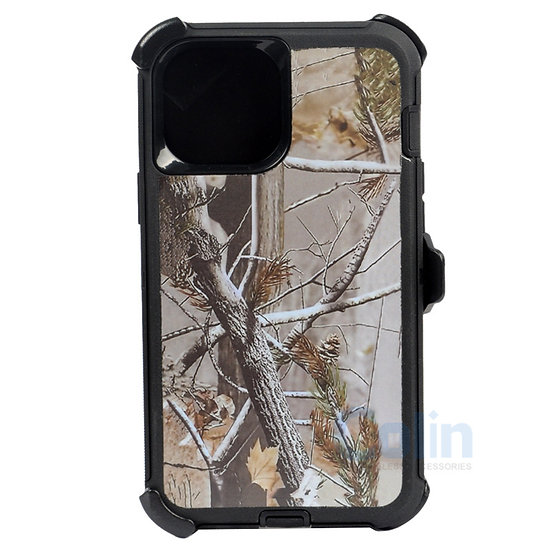 iPhone 12 Pro Max hybrid design case clip heavy duty holster cover BLACK TREE