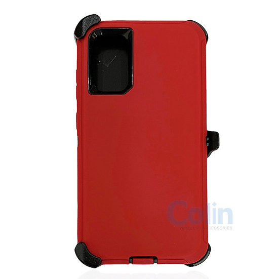 Samsung galaxy S20 hybrid case with clip heavy duty protective holster cover