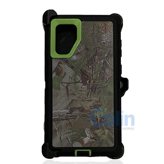Samsung galaxy Note 10 Plus design case with clip heavy duty cover - GREEN TREE