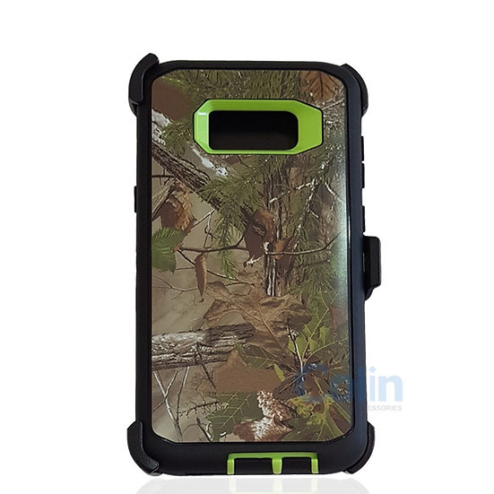 Samsung galaxy S8 Plus design case with clip heavy duty cover - GREEN TREE