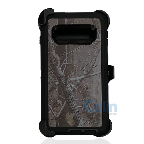 Samsung galaxy S10 design case with clip heavy duty holster cover - BLACK TREE