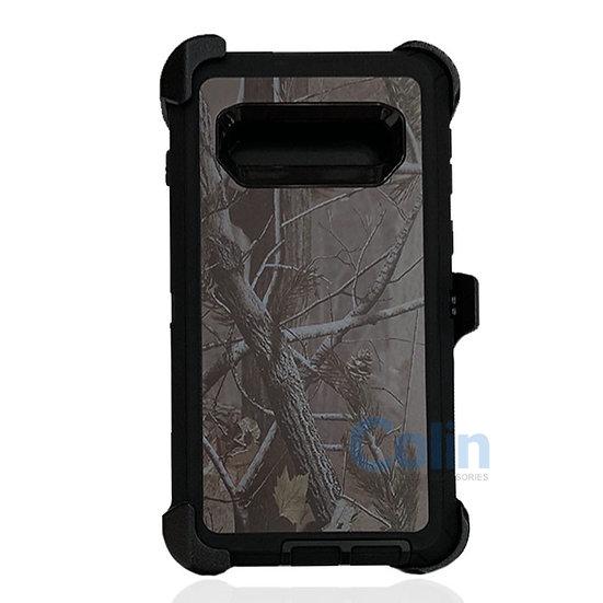 Samsung galaxy S10 Plus design case with clip heavy duty cover - BLACK TREE