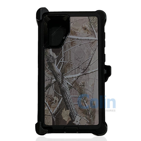 Samsung galaxy Note 10 Plus design case with clip heavy duty cover - BLACK TREE
