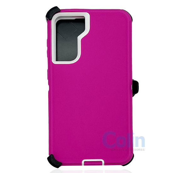 Samsung galaxy S21 Plus hybrid case with clip heavy duty protective cover