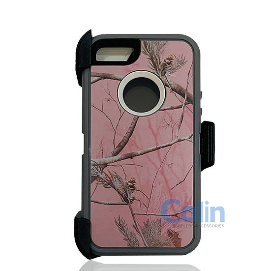 iPhone 5/5S hybrid design case with clip heavy duty holster cover - PINK TREE