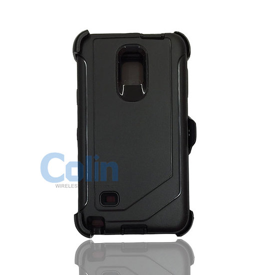 Samsung galaxy Note 4 hybrid case with clip heavy duty protective holster cover