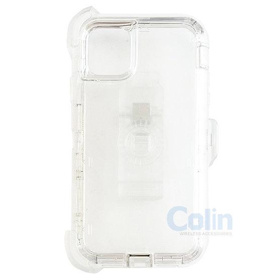iPhone 11 Pro hybrid clear case with clip heavy duty protective cover