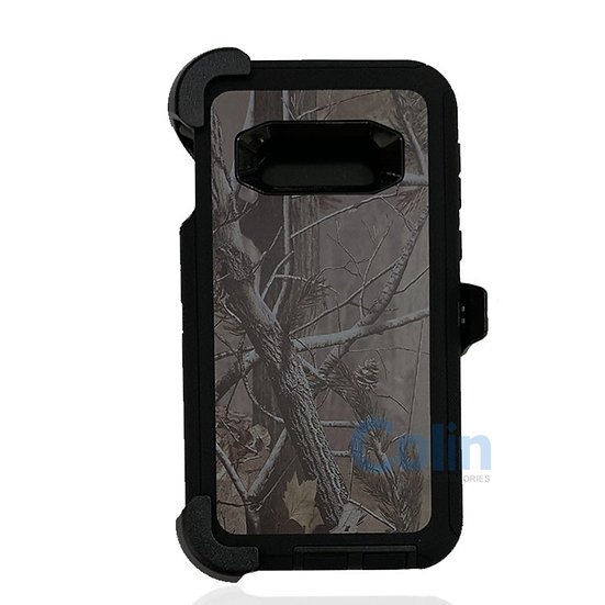 Samsung galaxy S10 E design case with clip heavy duty holster cover - BLACK TREE