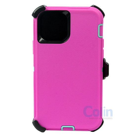 iPhone 12 Pro Max hybrid case with clip heavy duty kickstand holster cover