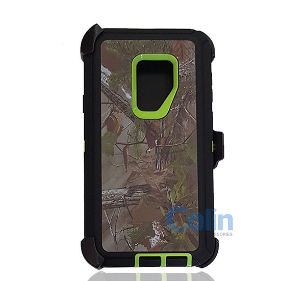 Samsung galaxy S9 Plus design case with clip heavy duty holster cover GREEN TREE