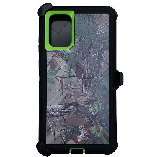 Samsung galaxy S20 ultra hybrid design case with clip heavy duty - GREEN TREE