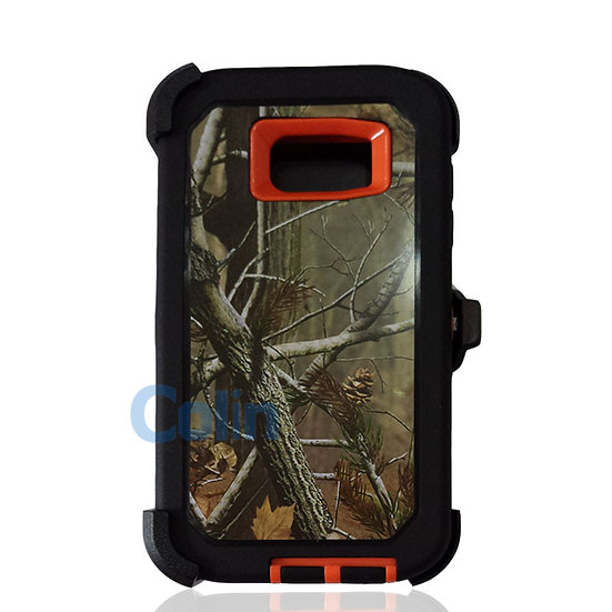 Samsung galaxy S7 Edge design case with clip heavy duty cover - ORANGE TREE
