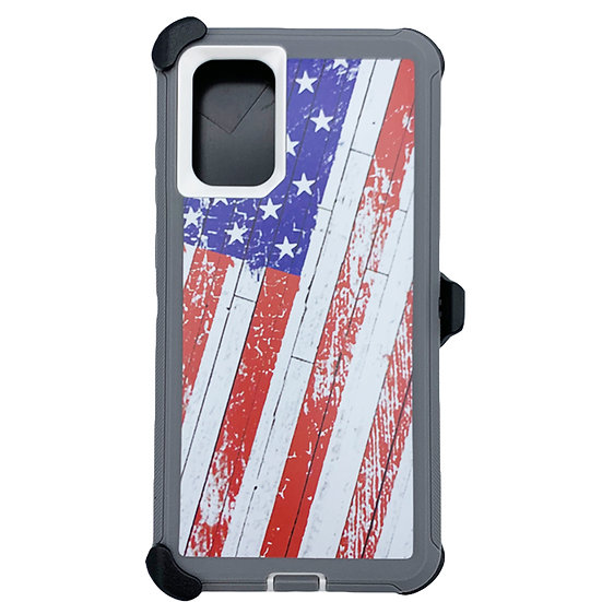Samsung galaxy S20 ultra hybrid design case with clip heavy duty holster  - FLAG