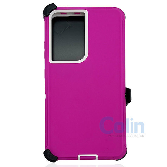 Samsung galaxy S21 Ultra hybrid case with clip heavy duty protective cover