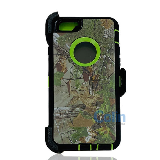 iPhone 6/6S hybrid design case with clip heavy duty holster cover - GREEN TREE