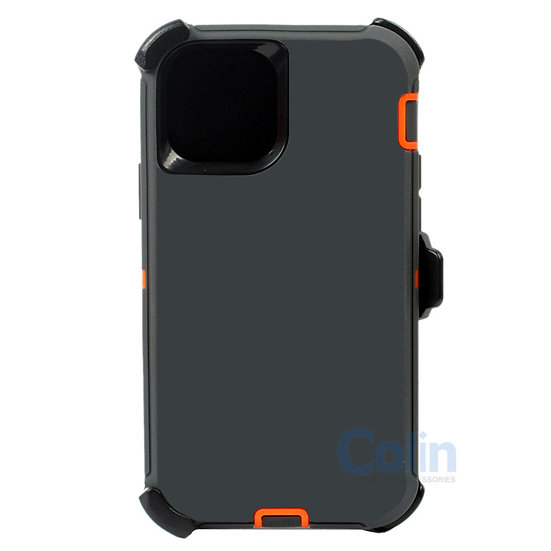 iPhone 12/12 Pro hybrid case with clip heavy duty kickstand holster cover