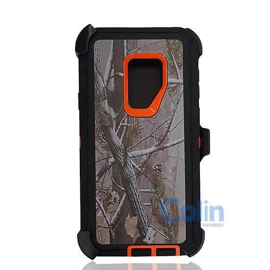Samsung galaxy S9 Plus design case with clip heavy duty cover ORANGE TREE