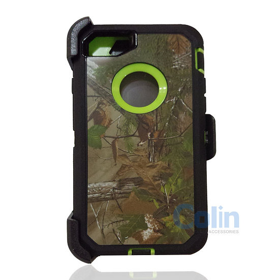iPhone 7/8 hybrid design case with clip heavy duty holster cover  - GREEN TREE