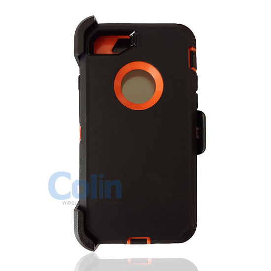 iPhone 7/8 hybrid case with clip heavy duty protective kickstand holster cover