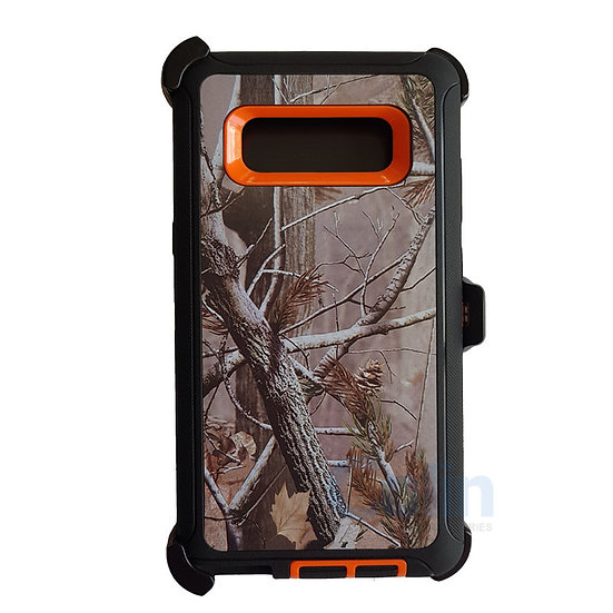 Samsung galaxy Note 8 design case with clip heavy duty holster cover ORANGE TREE