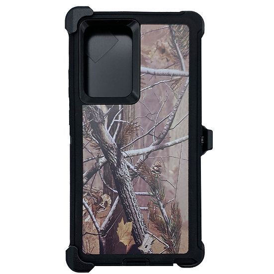 Samsung galaxy Note 20 Ultra design case with clip heavy duty - BLACK TREE
