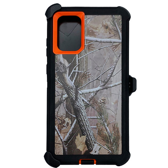 Samsung galaxy S20 hybrid design case with clip heavy duty holster - ORANGE TREE
