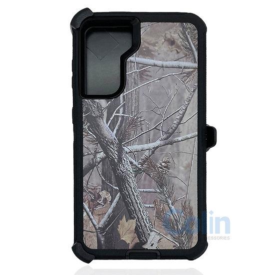 Samsung galaxy S21 plus hybrid design case clip heavy duty holster - BLACK TREE