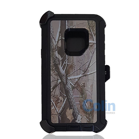 Samsung galaxy S9 design case with clip heavy duty holster cover - BLACK TREE