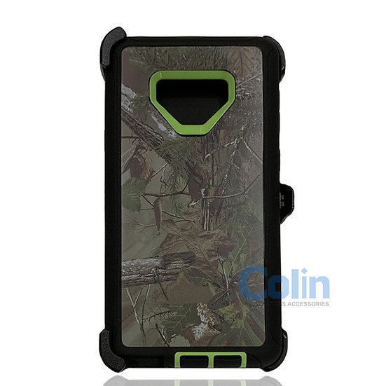 Samsung galaxy Note 9 design case with clip heavy duty holster cover GREEN TREE
