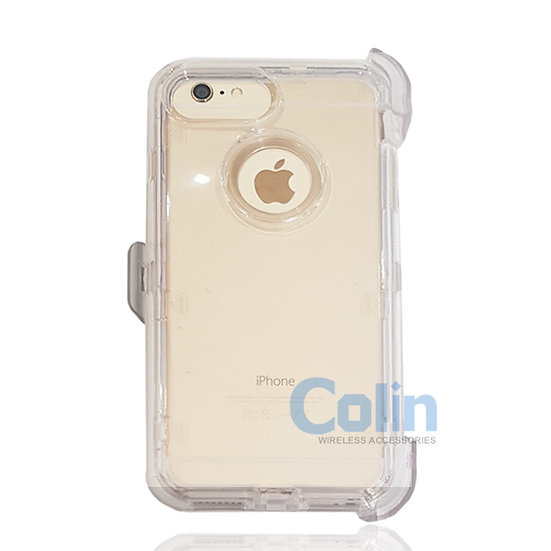 iPhone 6/7/8 Plus hybrid clear case with clip heavy duty protective cover