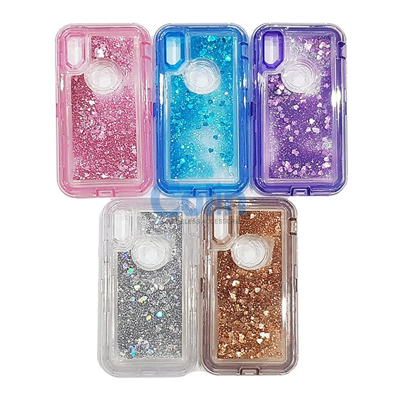 iPhone Xs Max Glitter Liquid Floating Case Sparkle Protective Heavy Duty cover