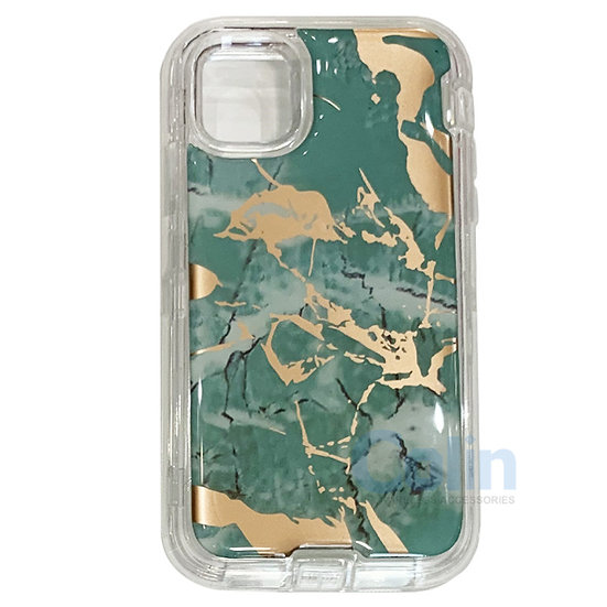 iPhone 11 Pro Max marble design heavy duty case - Green