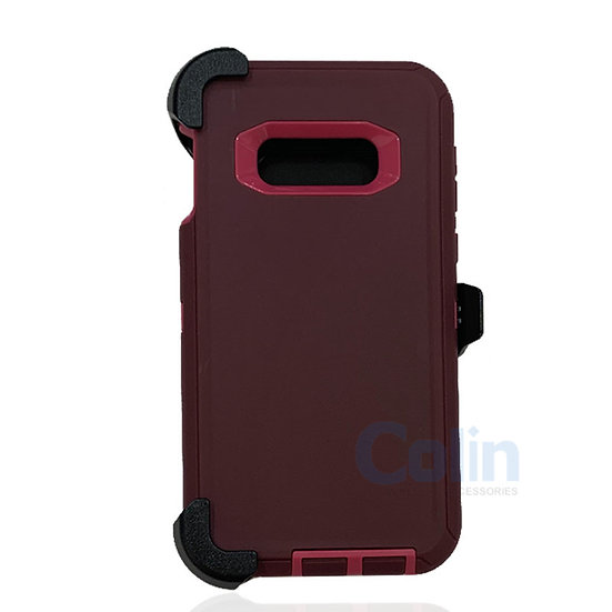 Samsung galaxy S10 E hybrid case with clip heavy duty protective holster cover