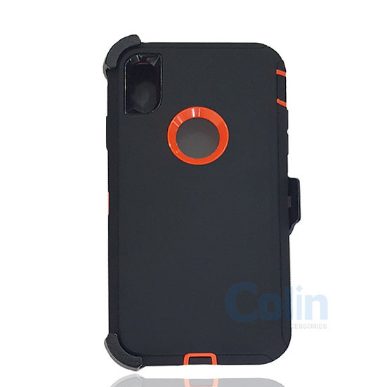 iPhone Xs Max case with clip heavy duty protective kickstand holster cover