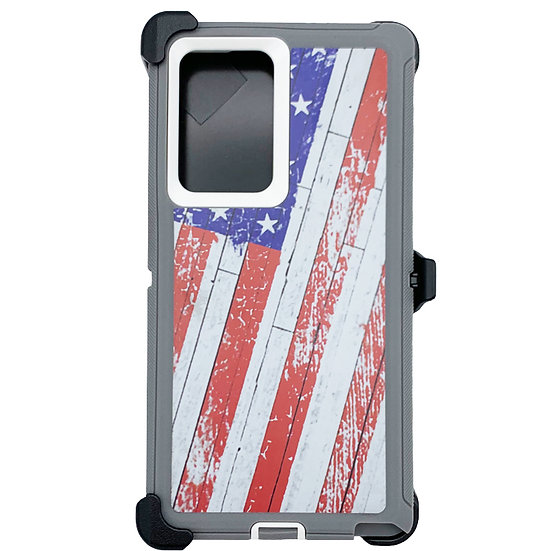 Samsung galaxy Note 20 Ultra design case with clip heavy duty holster - FLAG