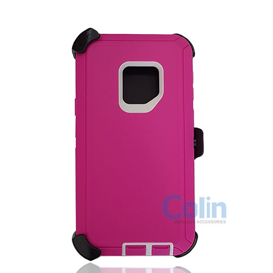 Samsung galaxy S9 hybrid case with clip heavy duty protective holster cover