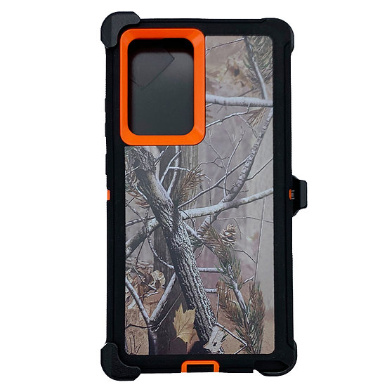 Samsung galaxy Note 20 design case with clip heavy duty holster - ORANGE TREE