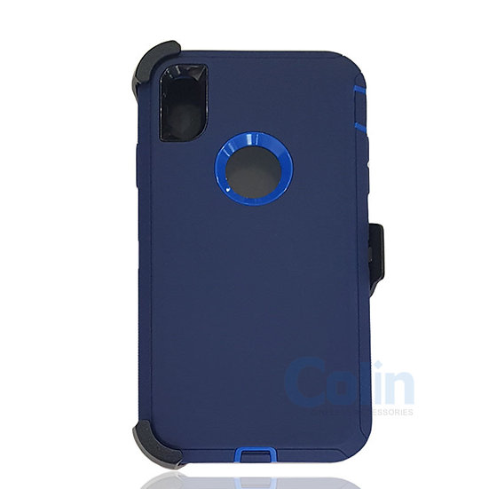 iPhone X R hybrid case with clip heavy duty protective kickstand holster cover