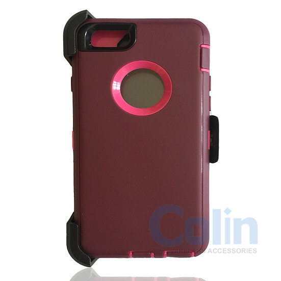 iPhone 6/6S hybrid case with clip heavy duty protective kickstand holster cover