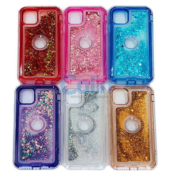 iPhone 11 Glitter Liquid Floating Case Sparkle Protective Heavy Duty cover