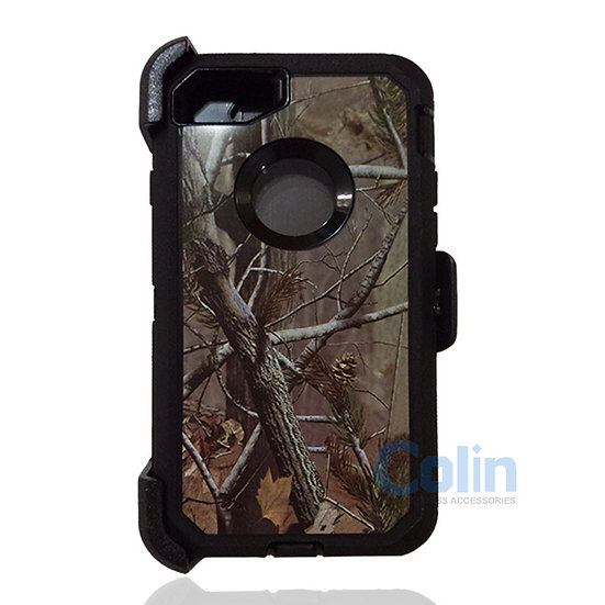 iPhone 7/8 hybrid design case with clip heavy duty holster cover  - BLACK TREE