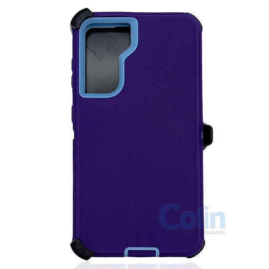 Samsung galaxy S21 hybrid case with clip heavy duty protective holster cover
