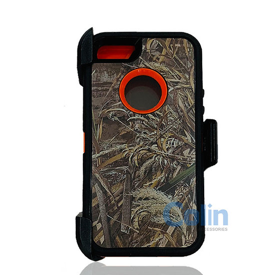 iPhone 5/5S hybrid design case with clip heavy duty holster cover - ORANGE GRASS