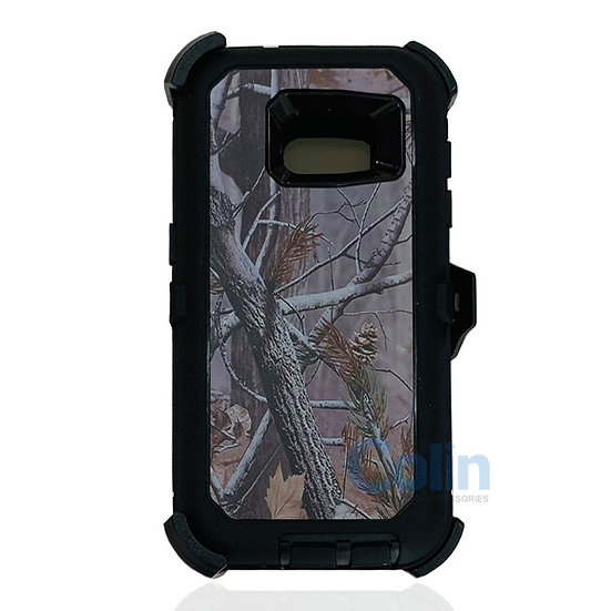 Samsung galaxy S7 design case with clip heavy duty holster cover - BLACK TREE
