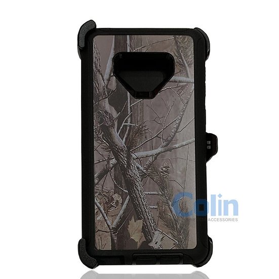 Samsung galaxy Note 9 design case with clip heavy duty holster cover BLACK TREE